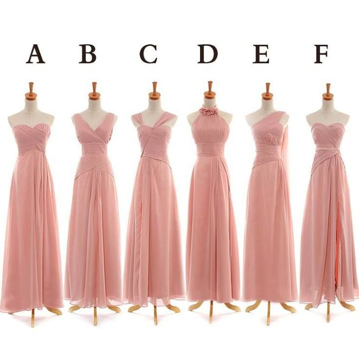 Bridesmaid dresses. Different color; maybe teal. Different styles ...