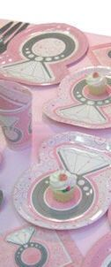 Plates For Diamonds And Pearls Baby Shower