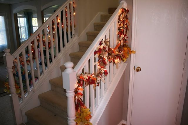 18+ Fall garland for staircase trends