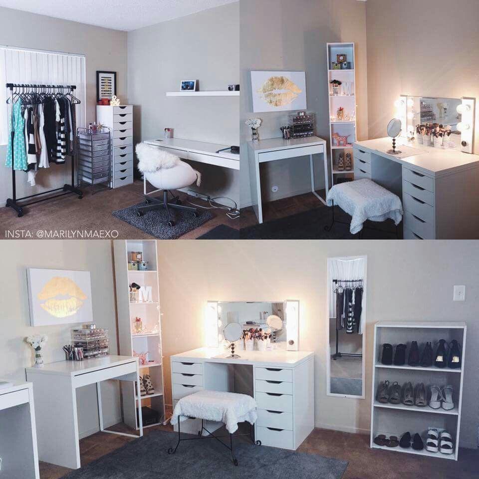 Legit bedroom goals that vanity that storage for Bedroom dressing ideas