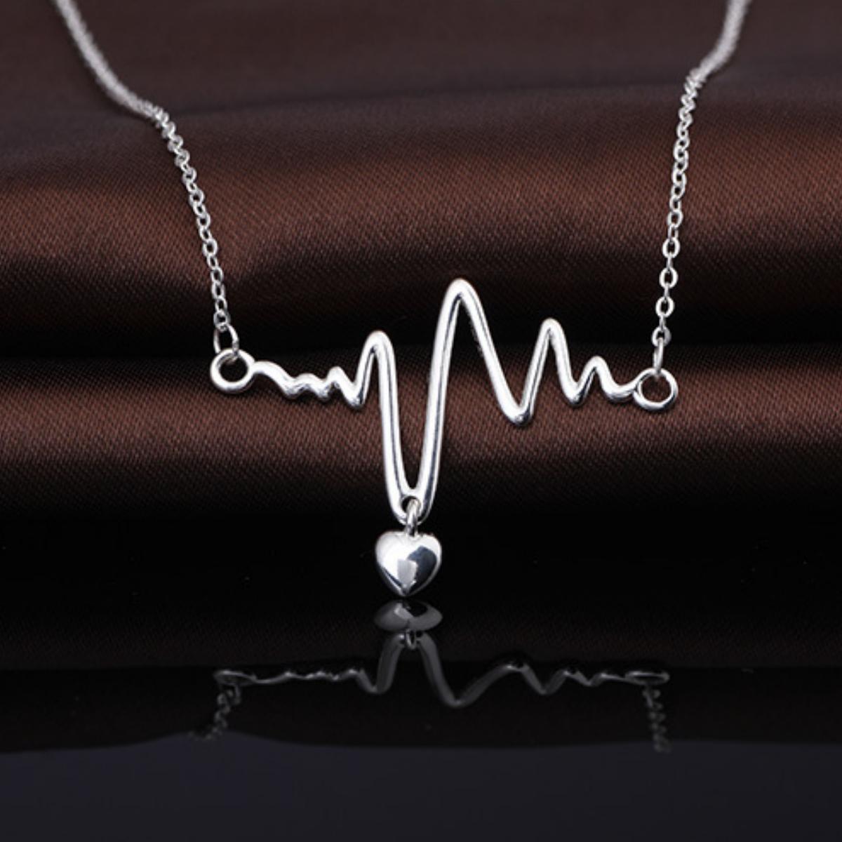 18 Handmade Nurse Crna Graduation Heartbeat Stethoscope Necklace Choker