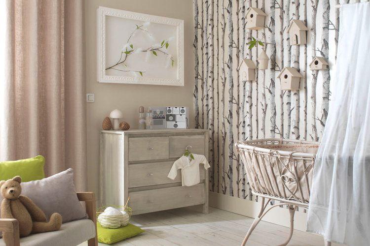 tapisserie bouleau chambre d 39 enfant recherche google. Black Bedroom Furniture Sets. Home Design Ideas