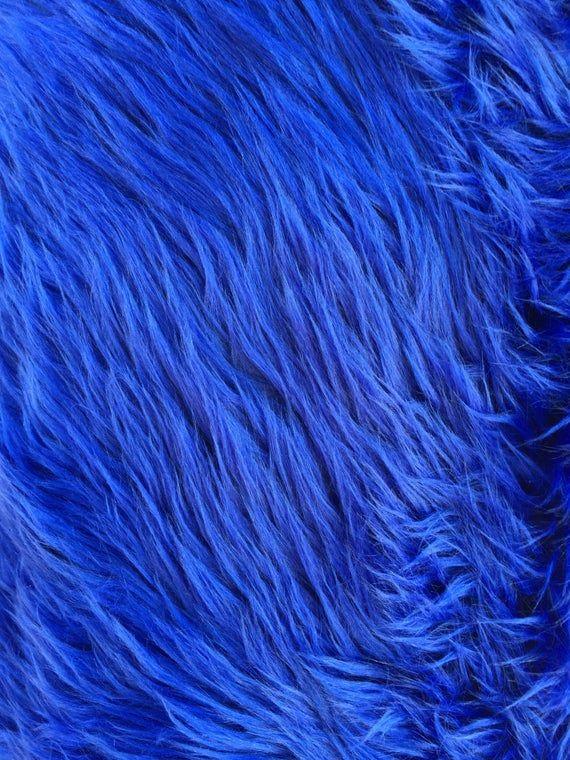 Royal  shaggy faux fur upholstery fabric per yard