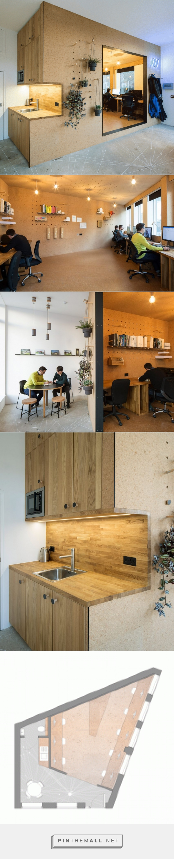 Selencky Parsons' adds cork-lined pod with pegboard walls to its own office - created via https://pinthemall.net