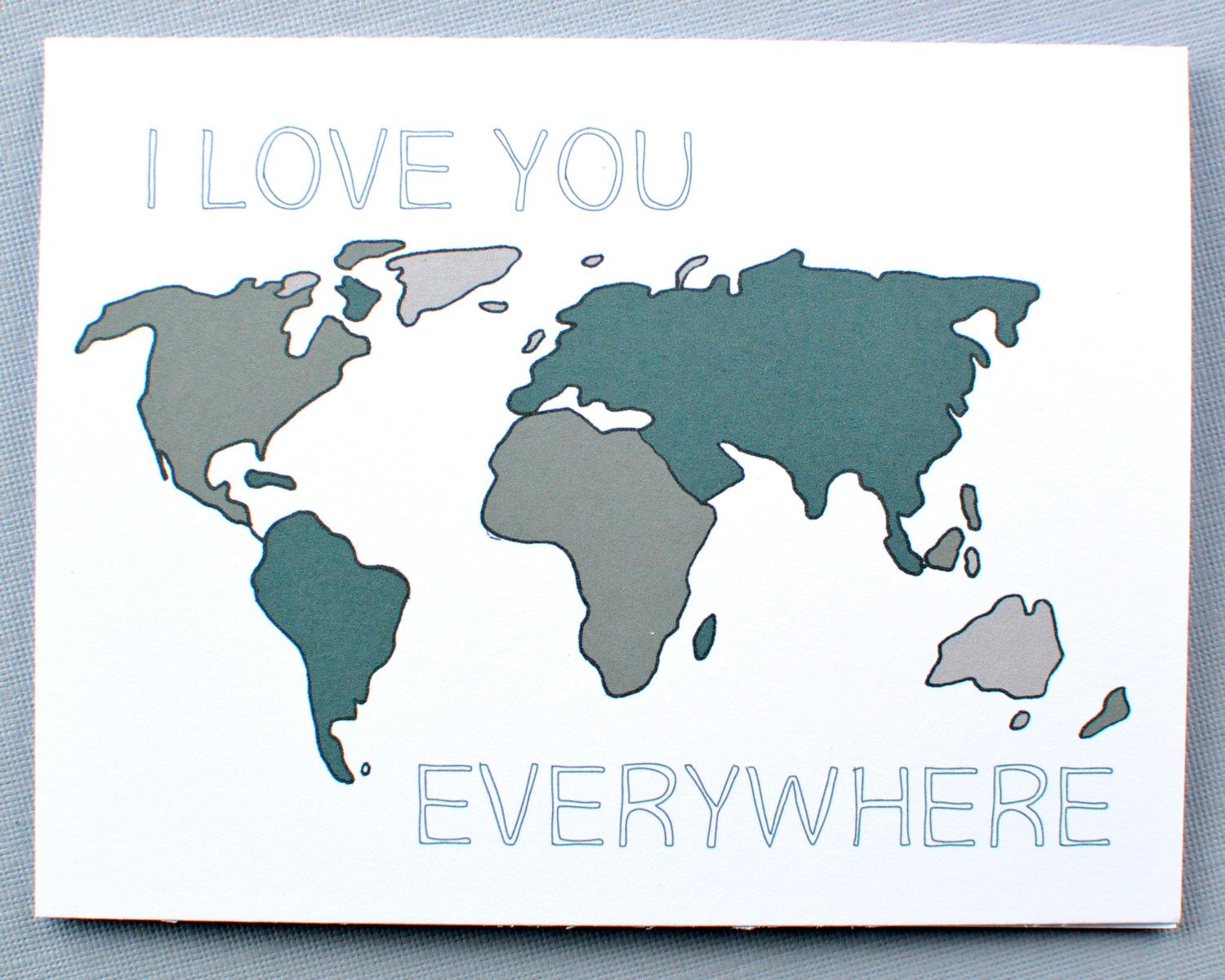 Army Military Card I Love You Everywhere In The World For A