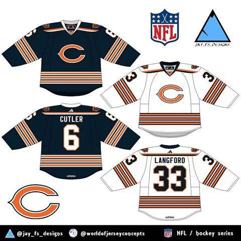 save off 29330 1837f chicago bears hockey jersey