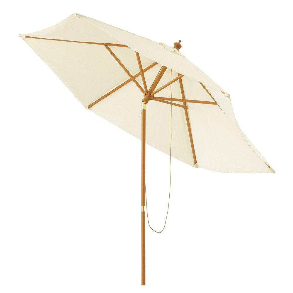 Parasol de jardin inclinable écru D 300 cm | Maisons du Monde