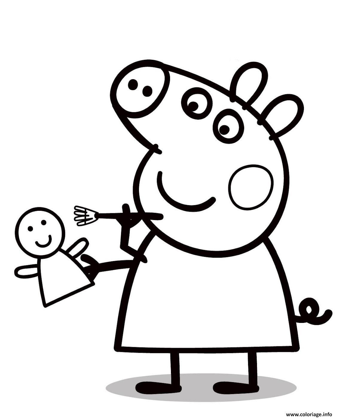 dessin peppa pig a colorier - Recherche Google | Peppa pig ...