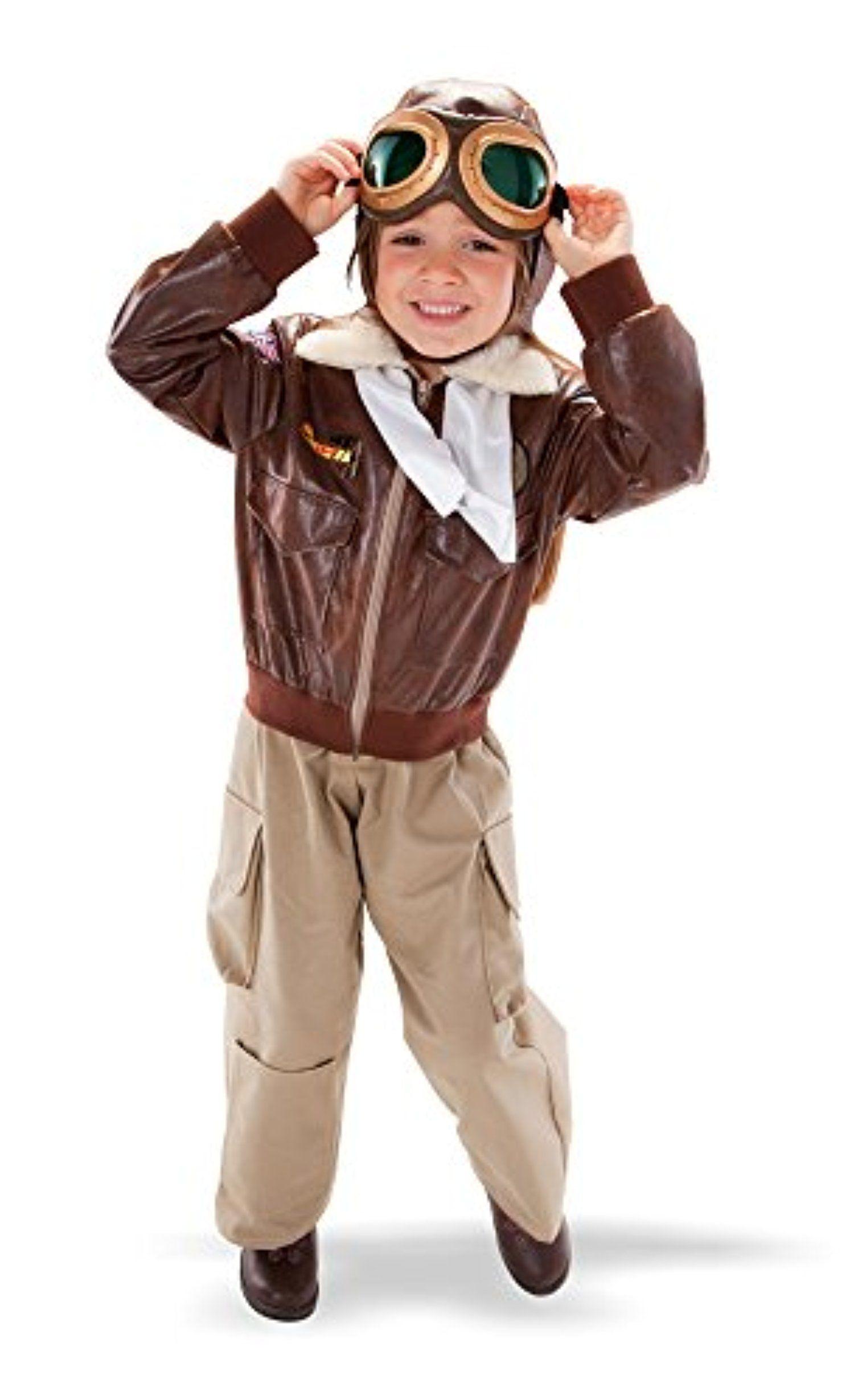 TeeTot Aviator Pilot Costume Size 5-6 with Jacket 65f43c4416c3