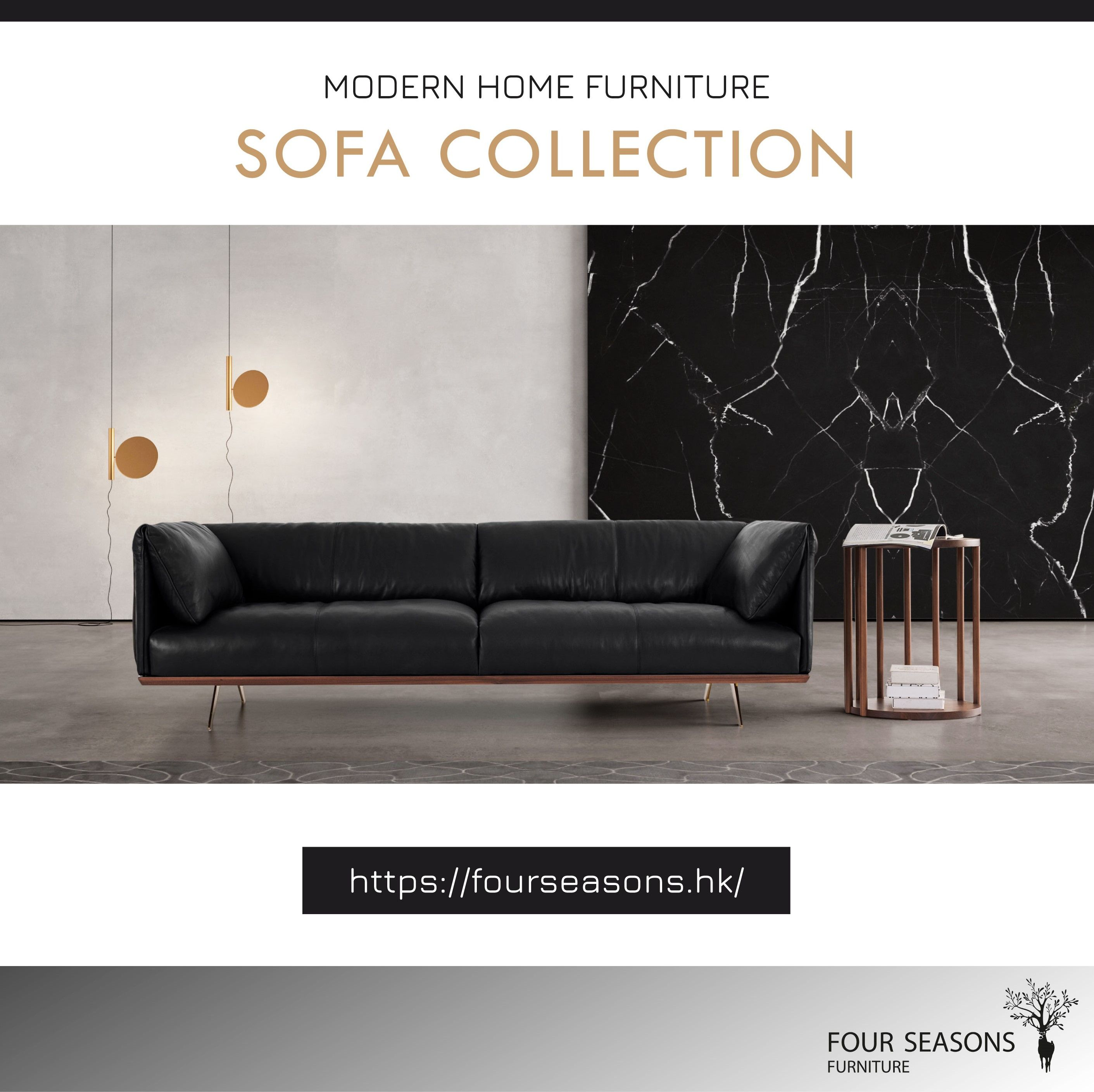 With The Right Sofa You Can Provide A More Relaxing Feeling To Your Living Room We Use Black Walnut And Leather Furniture Modern Home Furniture Quality Sofas