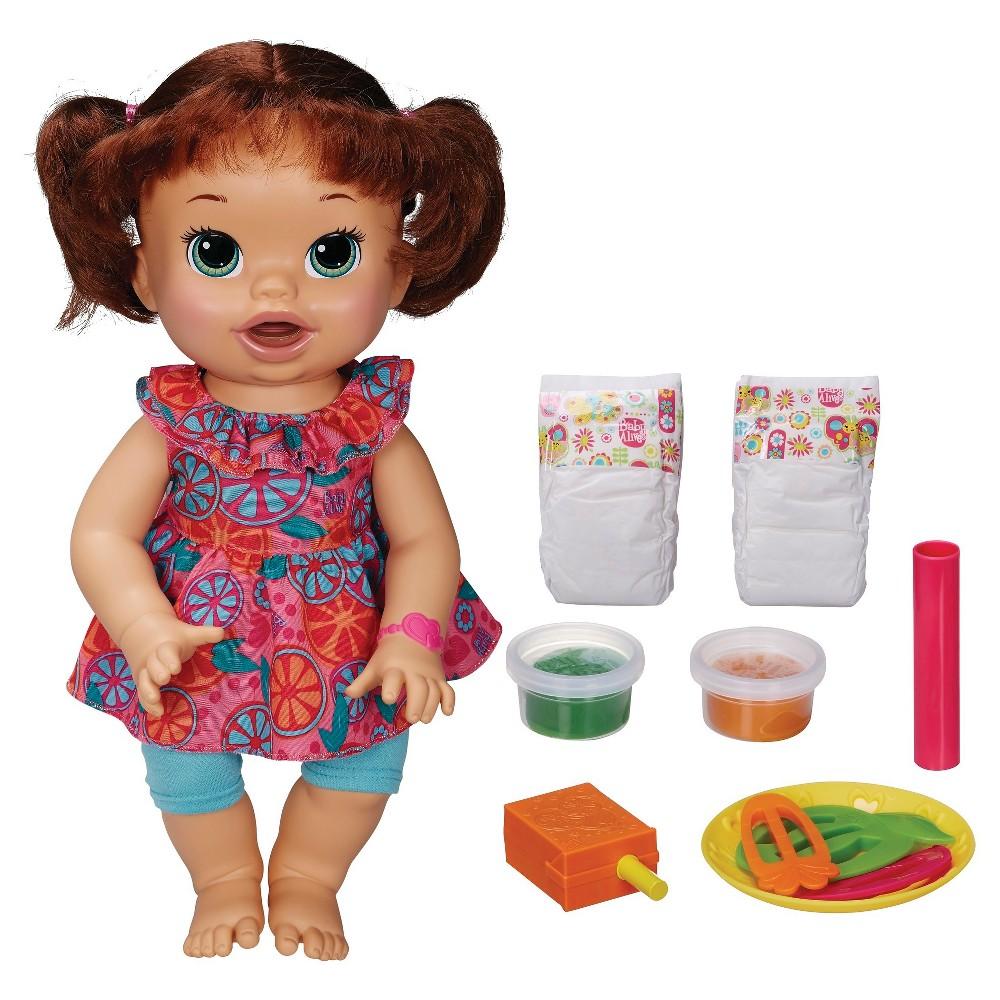 Baby Alive Super Snacks Snackin Sara Brunette Baby Alive Dolls Baby Alive Baby Alive Food