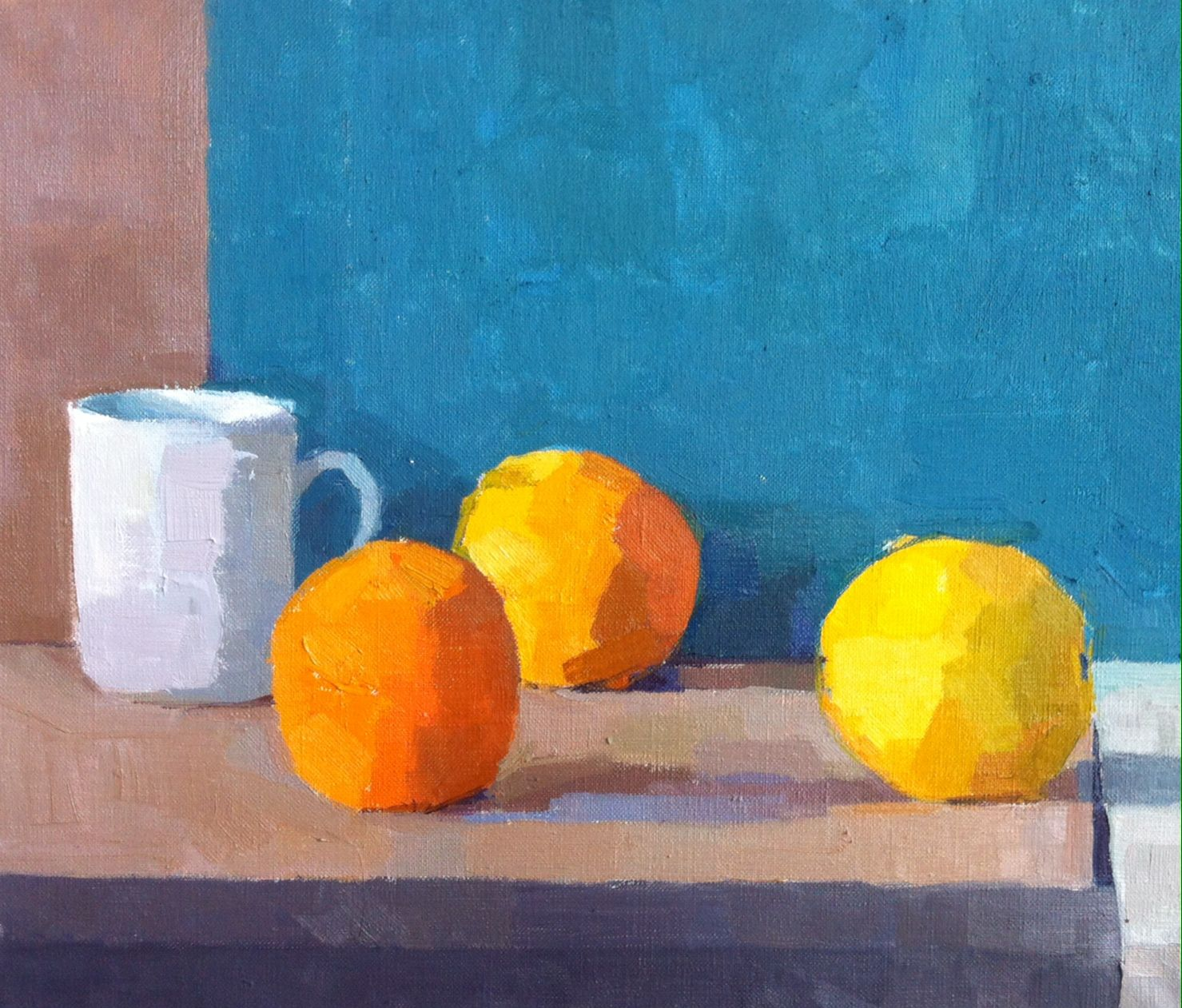 #Spackman#still-life#oil painting#Three Oranges