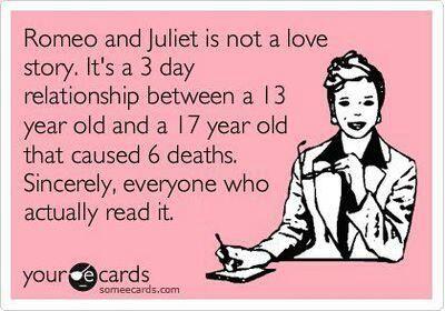 Romeo Juliet Not A Love Story But Infatuation Run Amok
