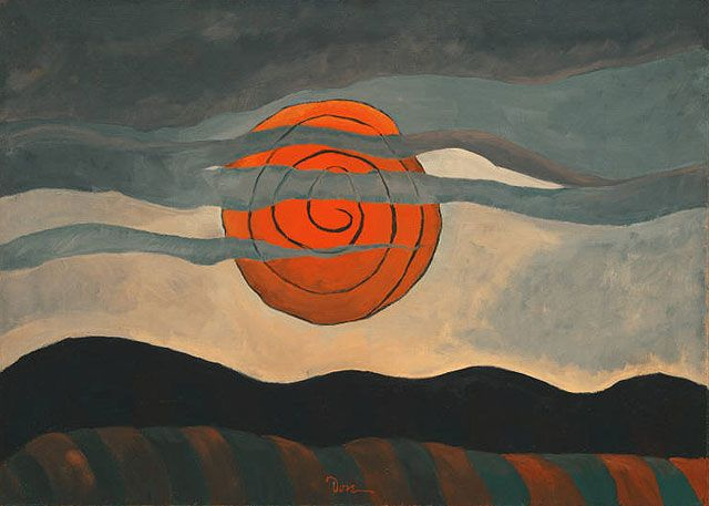 """Red Sun""1935 by Arthur Dove"
