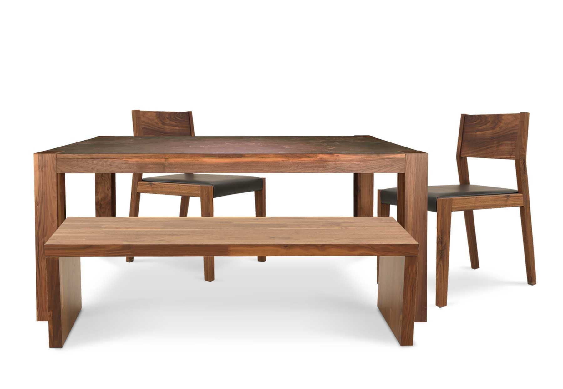 Brita Dining Table With Joran Low Bench And 2 Jacob Chairs