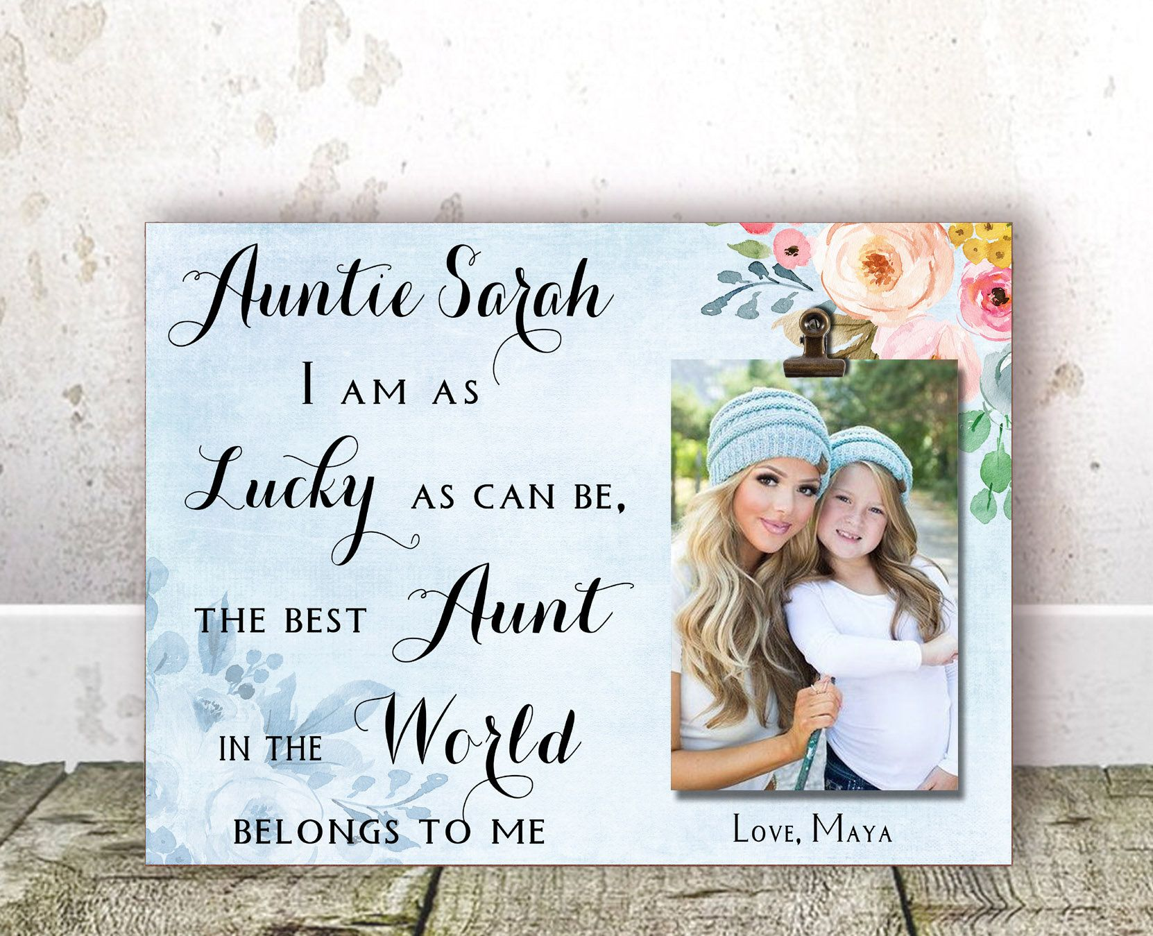 Aunt Christmas Gift Auntie Gift Aunt Gift Aunt Personalized Picture Frame Aunt Gift From Niece Auntie Gift From Nephew Aunt Birthday Gift