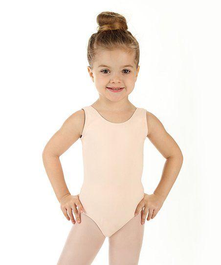 Elowel Kids Girls Tank Leotard (Size 2-14 Years) Nude Pink