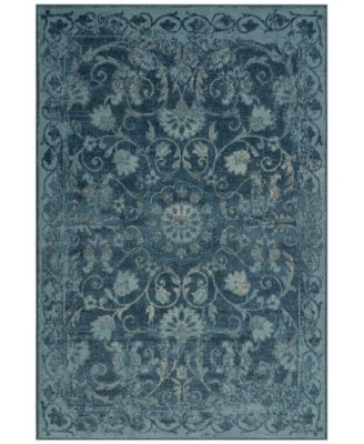 D Style Menagerie Men29 Denim 4 11 X 7 5 Area Rug