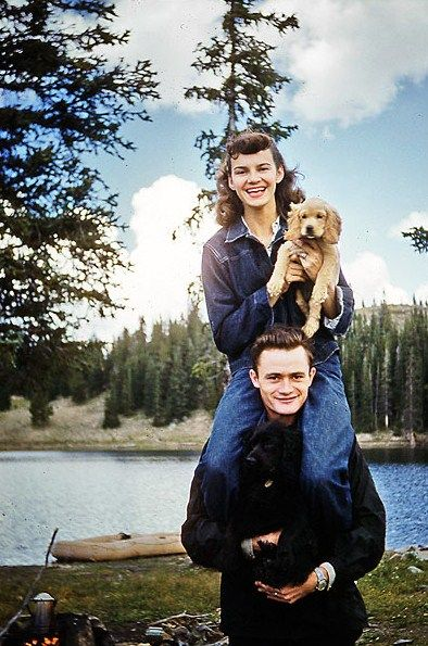 Tillett Family - Twin Lakes, Snowy Range, 1950's (via)
