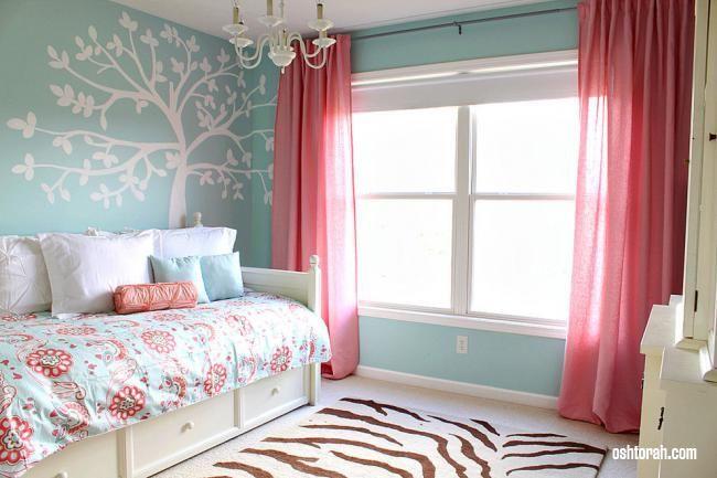 Спальня сине коричневого цвета
