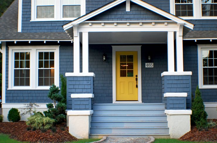 Blue house revolution home exterior navy blue houses - Sherwin williams outerspace exterior ...