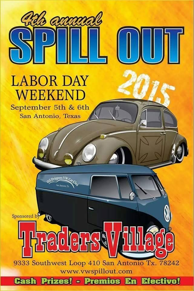 Spill Out Vw Show Saturday September In San Antonio TX At - Traders village san antonio car show