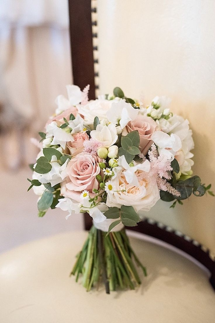 Beautiful Pink Country House Wedding #flowers