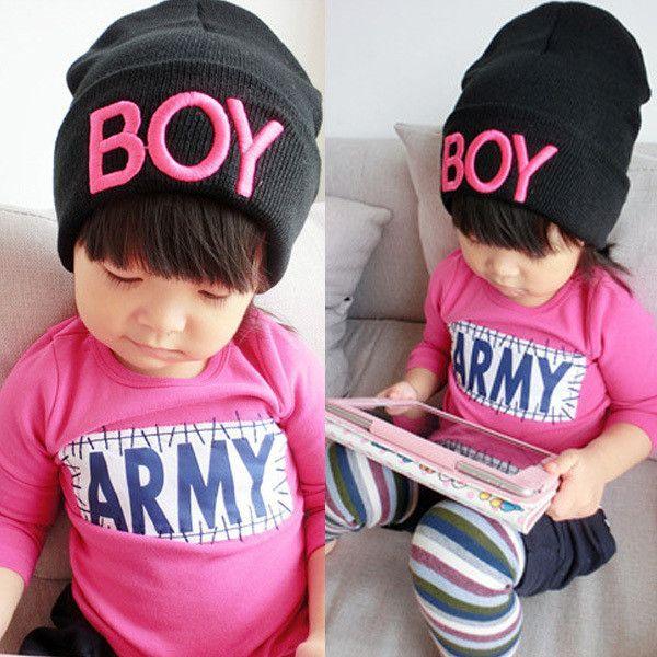 1809e897d24 New Toddler Baby Girls Boys Knitted Woolen Skull Hats BOY Beanie Cap Ski  Hats
