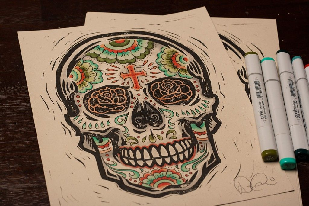 Flower Child Line Drawing : Flower child skull web to y toos tattoos block