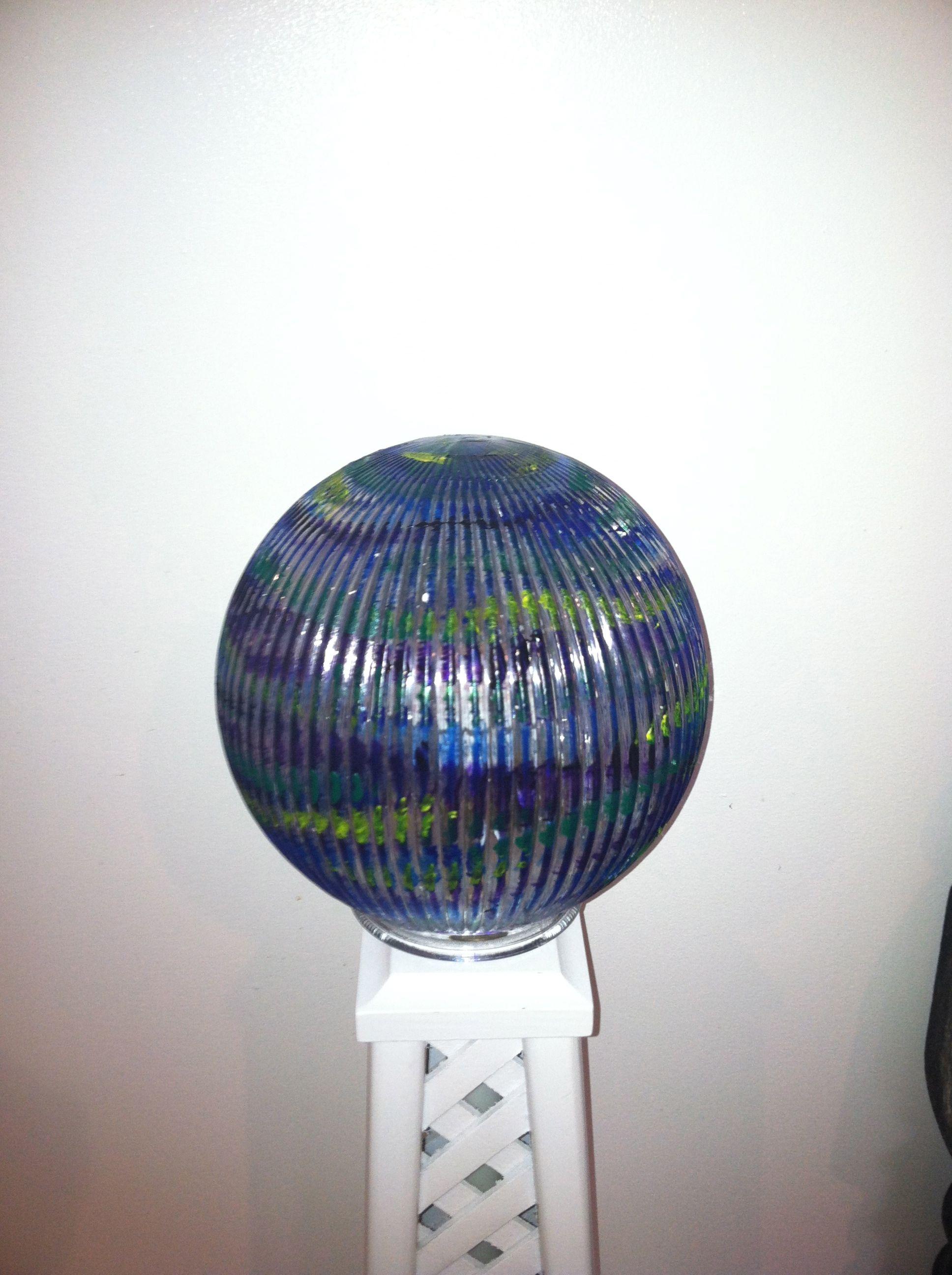 Glass orb light fixture I painted