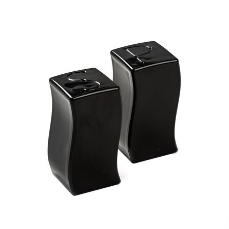 Black Plastic Salt & Pepper Shakers by Smartyhadaparty.com.