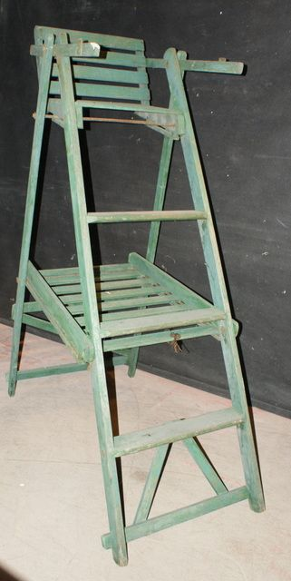 tennis umpire chair hire beach with face hole umpires very unusual 1920 s original painted