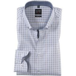 Photo of Olymp Level Five Hemd, body fit, Button-down, Braun, 43 Olympolymp