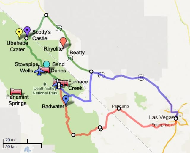 How to Get From Las Vegas to Death Valley Death valley Vegas and