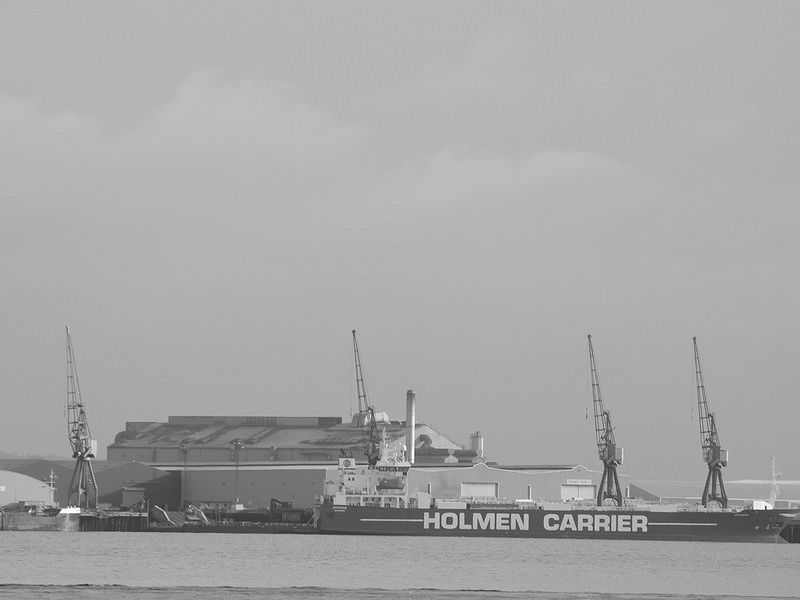A ship docked at Sheerness on the river medway [shared]