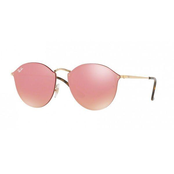O Óculos de Sol Ray Ban Blaze Round RB3574N-001 E4 é fabricado com ... 6d2a6bf85885