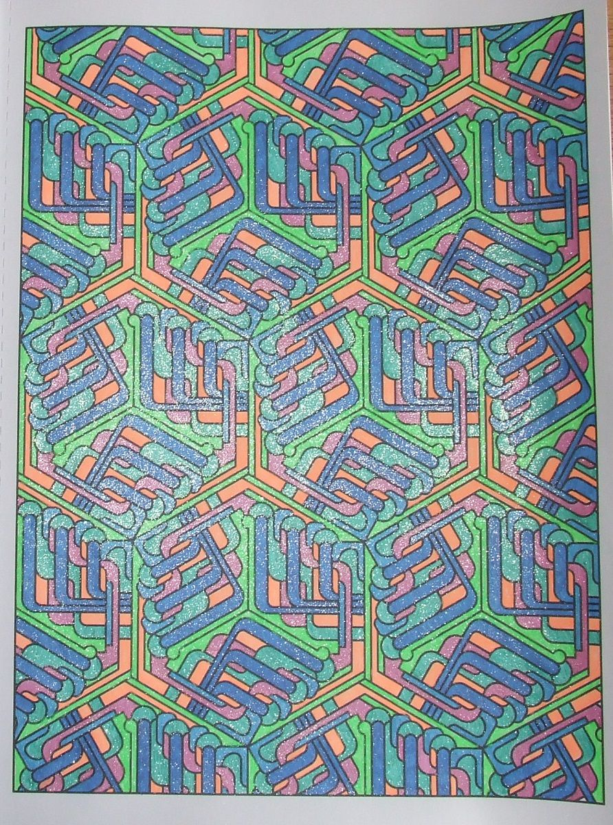 Tesselation patterns 13, done with gelpens