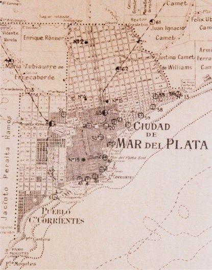 Plano antiguo de la ciudad de Mar del Plata Mapas antiguos