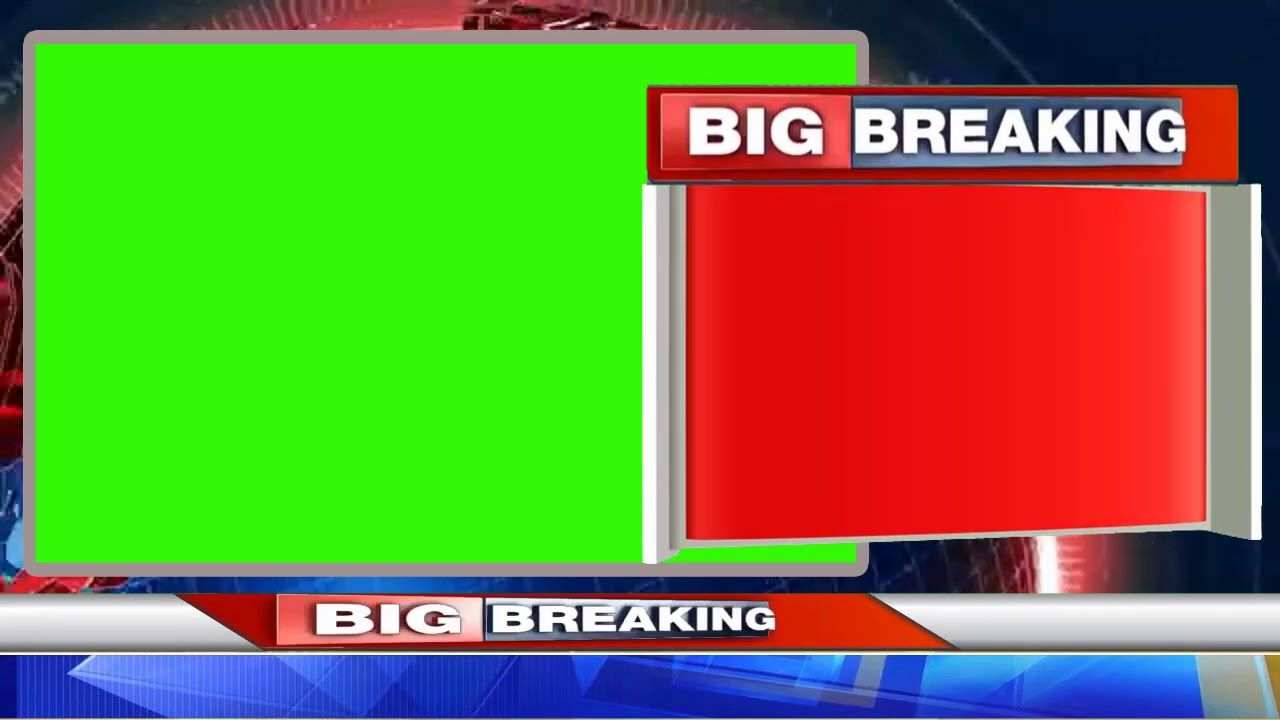 Breaking News And Lower Third Animation Green Screen Breakingnews Greenscreen Green Screen Backgrounds Green Screen Video Backgrounds