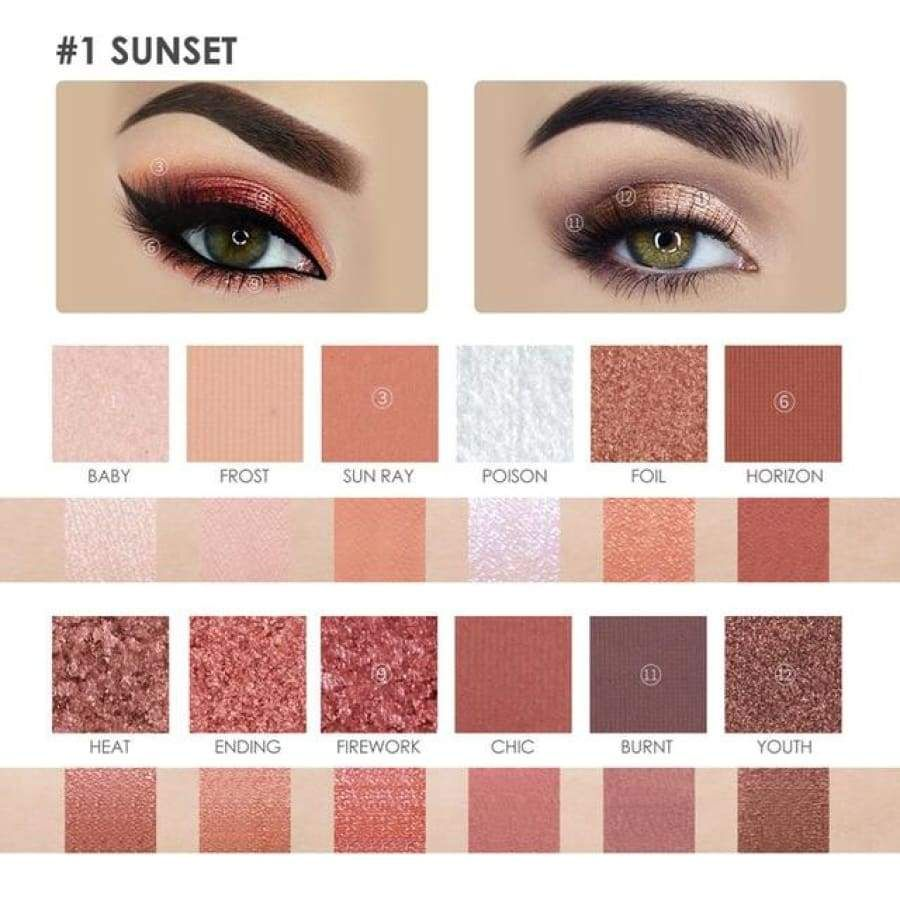 Burning Sunset Eye Shadow Palette With Images Shimmer