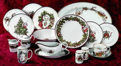 Been loving these pieces from Fitz Floydu0027s St. Nicholas pattern for many many years & Been loving these pieces from Fitz Floydu0027s St. Nicholas pattern for ...