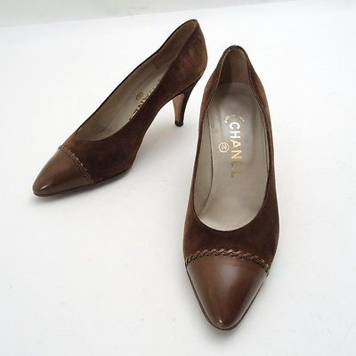 100% Authentic CHANEL Suede pumps shoes from JAPAN