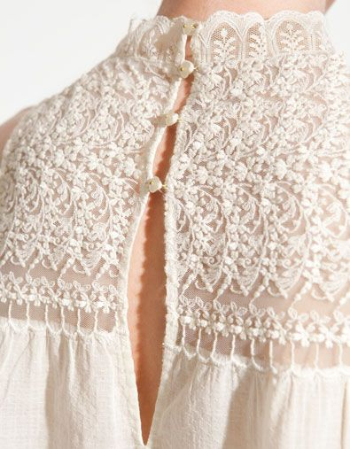0204db959e0c8 Encaje    Lace  Alucinante detalle del bordado de un vestido de novia!!!