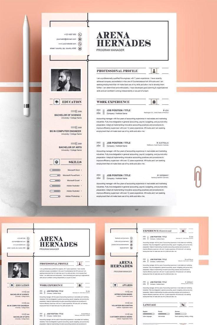 38+ Simple graphic design resume ideas in 2021