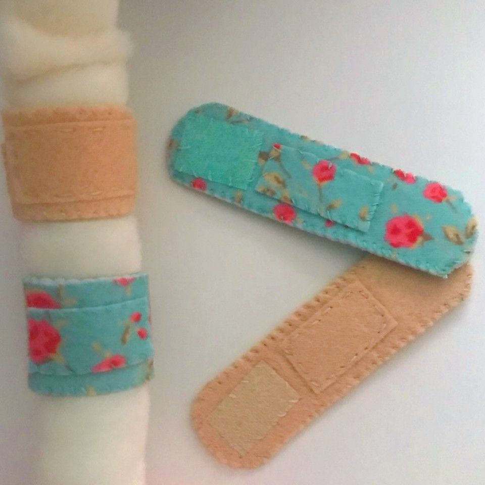 Diy Play Felt Bandages Felt Crafts Felting Tutorials Felt Diy