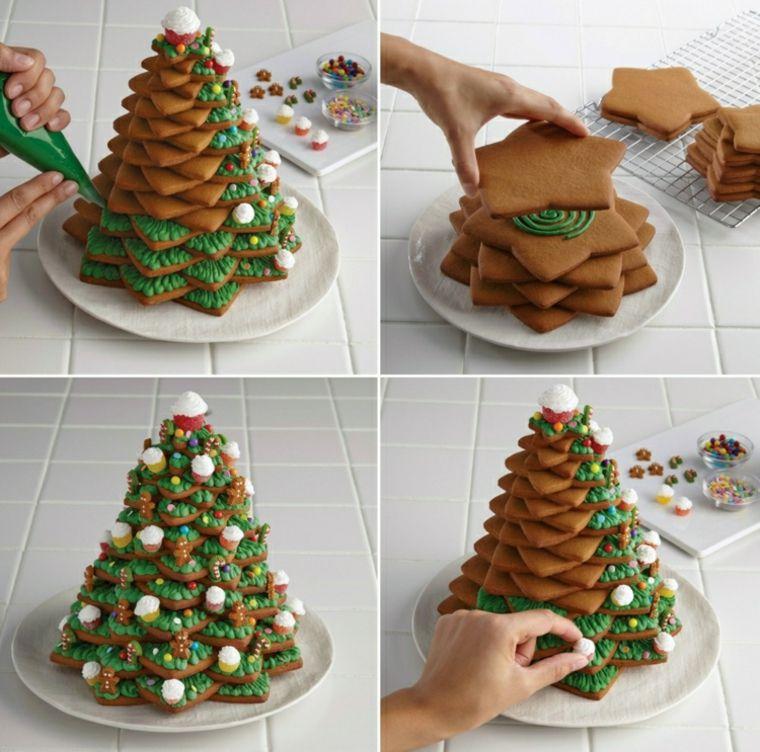Albero Di Natale Fatto Con I Biscotti.Alberi Di Natale Originali Biscotti Alla Cannella Decorati Con Della Glassa Di Colore Verde Biscotti Di Natale Dolci Di Natale Colazione Di Natale