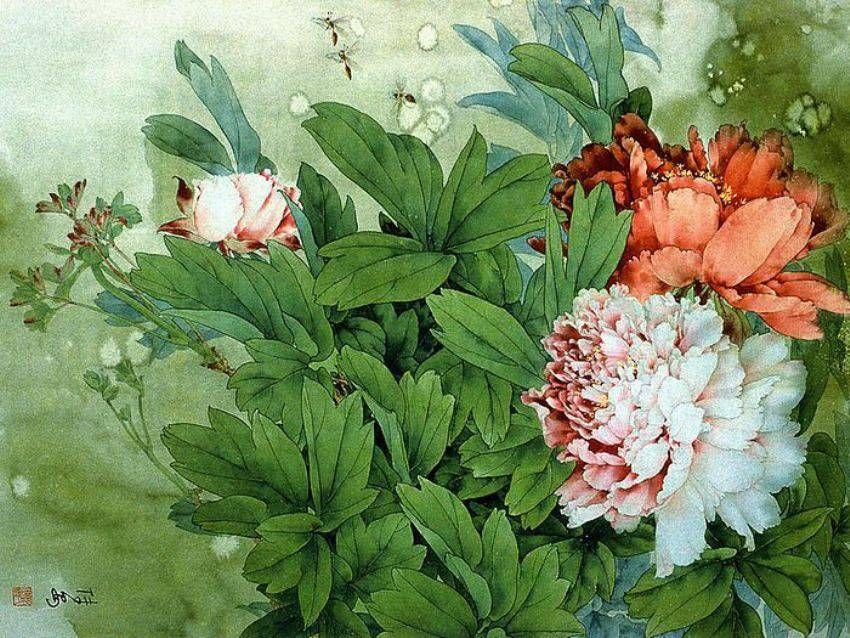 живопись китая цветы и птицы - Поиск в Google