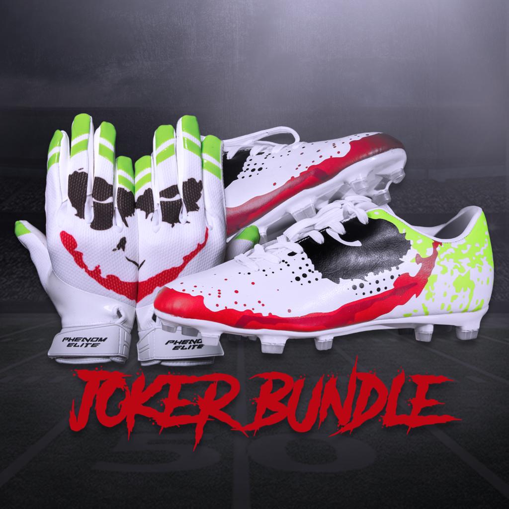 Vps3 Velocity Cleats Joker Bundle Phenom Elite Brand Football Run Cleats Football Gloves