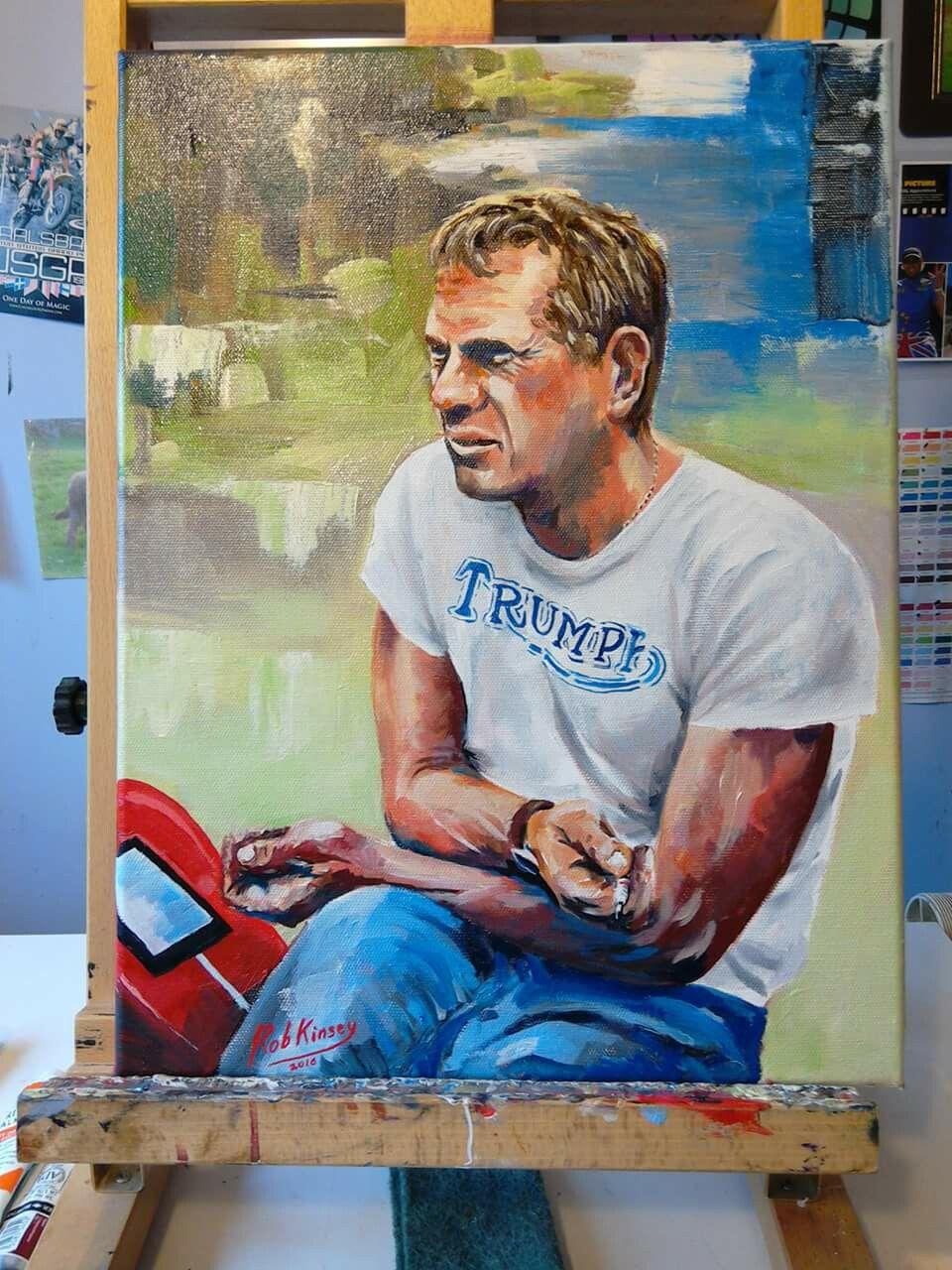 Home gt steve mcqueen porsche paintings - Steve Mcqueen