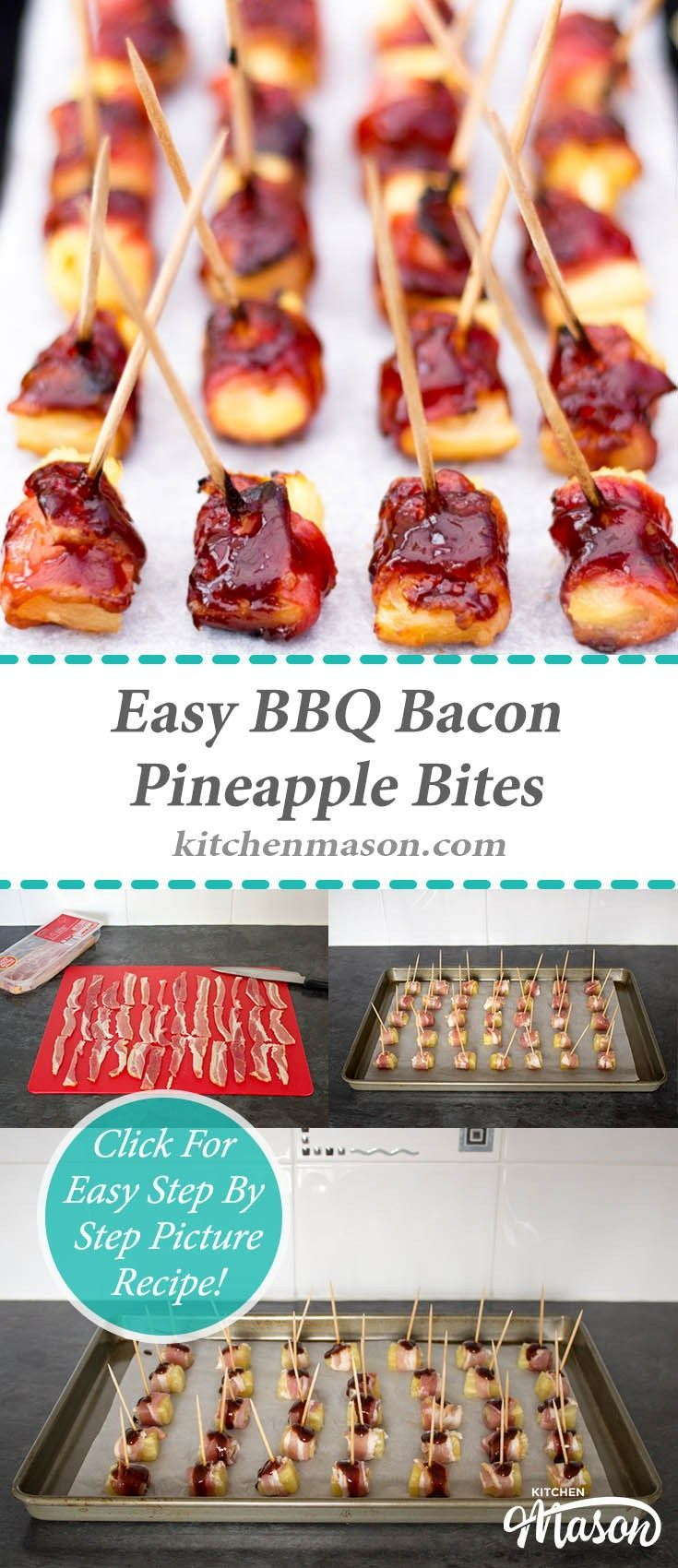 Christmas Bbq Party Ideas Part - 45: BBQ Bacon Pineapple Bites